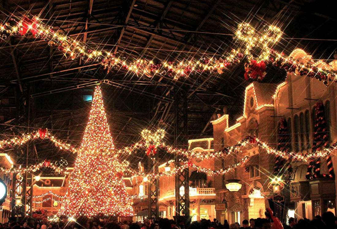 クリスマスのデコレーション : 東京ディズニーランド クリスマス 2014
