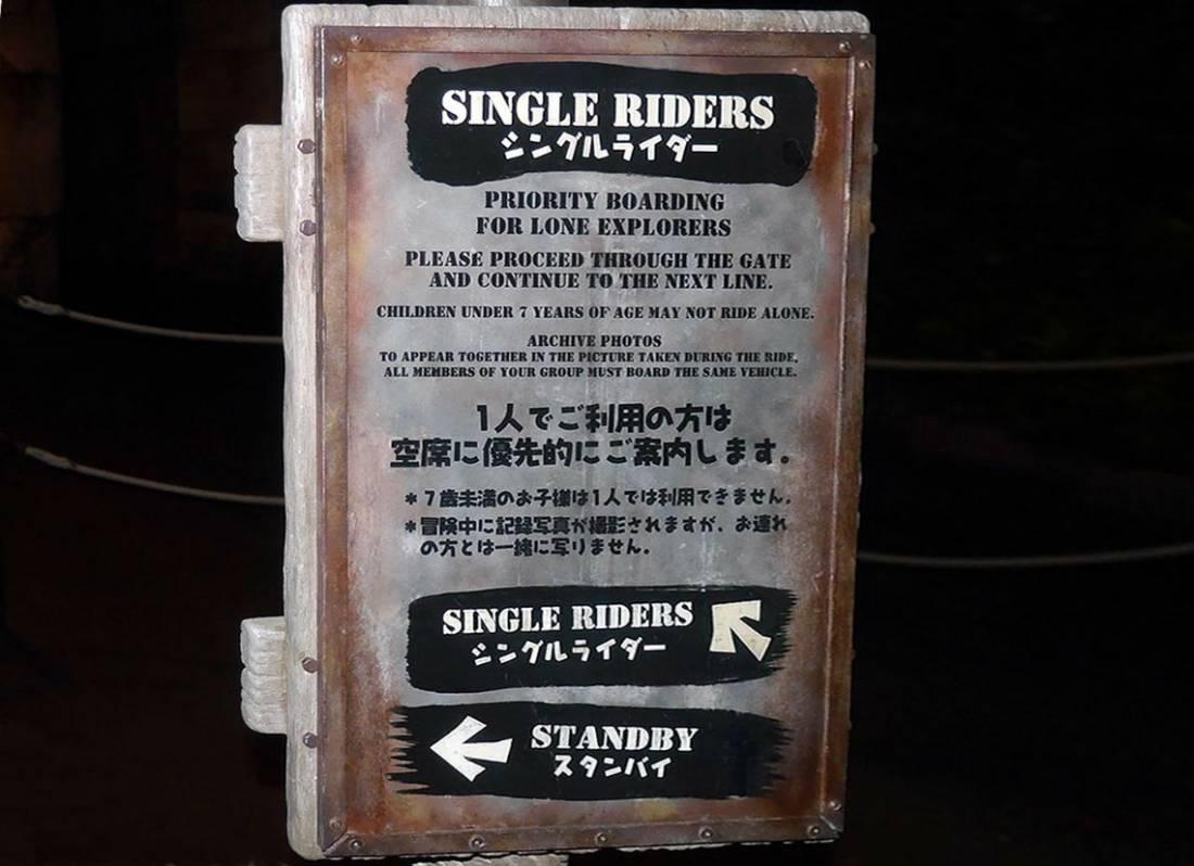 ディズニーのシングルライダー