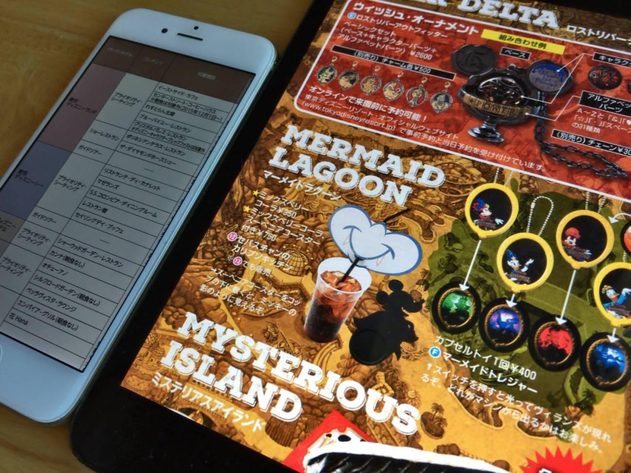 細かい表や、グッズの紹介ページもズームで楽々読めてしまいます。