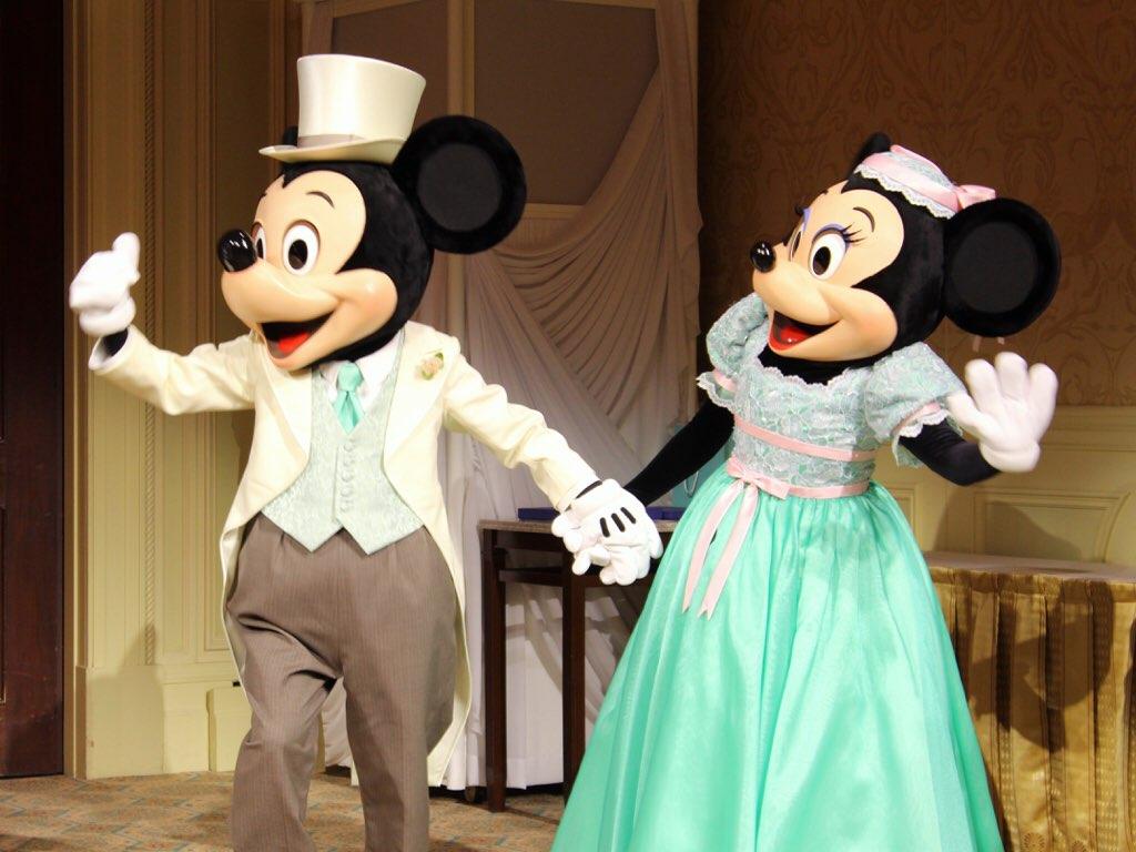 ディズニー結婚式のミッキーとミニー