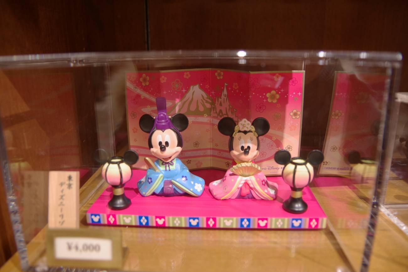 ミッキーとミニーの親王飾り
